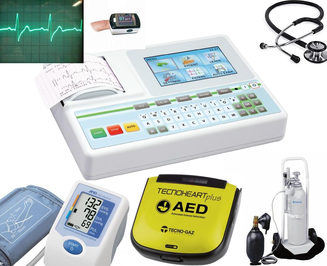 Sprzęt medyczny i diagnostyczny, pierwsza pomoc